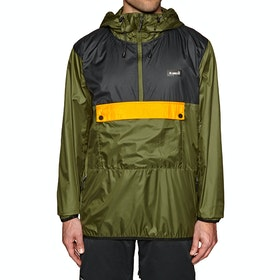 Coupe-vent Planks Radorak Packable Anorak - Army Green