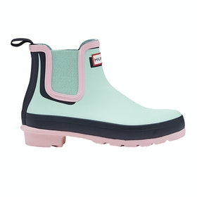Hunter Chelsea Shadow Print Boots - Candy floss Aqua foam