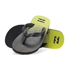Billabong Tides 73 Stripes Kids Sandals - Neo Yellow