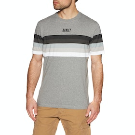 Oakley Tn Racing Sunset Stripe Short Sleeve T-Shirt - Athletic Heather Grey