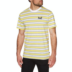 T-Shirt à Manche Courte Huf Rockaway Knit - Aurora Yellow