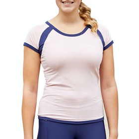 Covalliero Contrast Short Sleeve Ladies Top - Pink