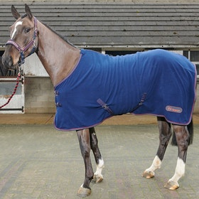 John Whitaker Rastrick Fleece Rug - Navy Reflective