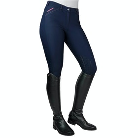 John Whitaker Fenton Water Resistant Riding Breeches - Navy Pink