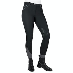 John Whitaker Fenton Water Resistant Riding Breeches - Black Grey
