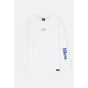 Bleu de Paname M.l. Pied Biche+bleu Langarm-T-Shirt - Blanc