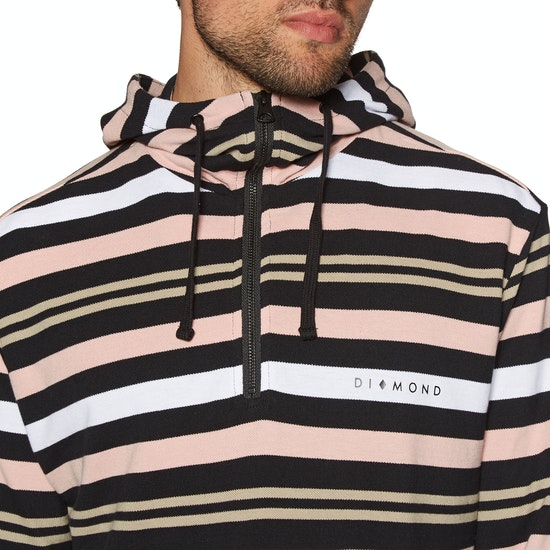 Diamond Supply Co Marquise Striped Zip Hoody