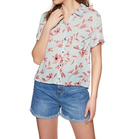 Billabong Roll Call Womens Short Sleeve Shirt - Beach Glass