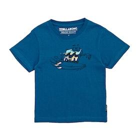 Camiseta de manga corta Niño Billabong Kill Wave Tod - Royal