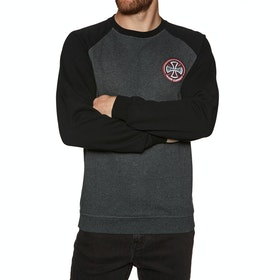 Independent Hollow Cross Crew Sweater - Black Charcoal Heather
