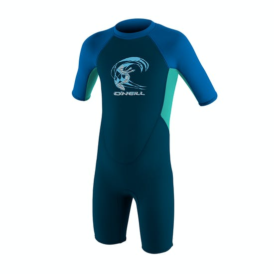 O'Neill Toddler Reactor II 2mm Back Zip Shorty Kids Wetsuit