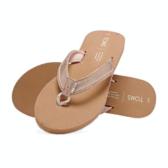 Toms Gabi Leather Womens Flip Flops