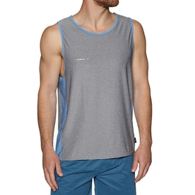 O'Neill Hybrid Sun Tank Surf T-Shirt - Cool Grey Bright Blue