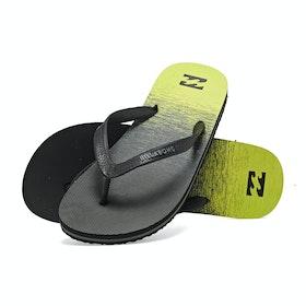 Billabong Tides 73 Stripe Sandals - Yellow