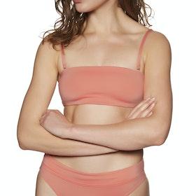 SWELL Miami Bandeau Bikini Top - Coral