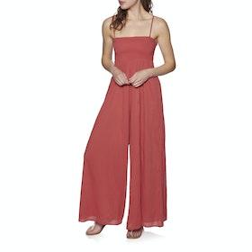 Billabong Line Walker Jumpsuit - Sunset Red