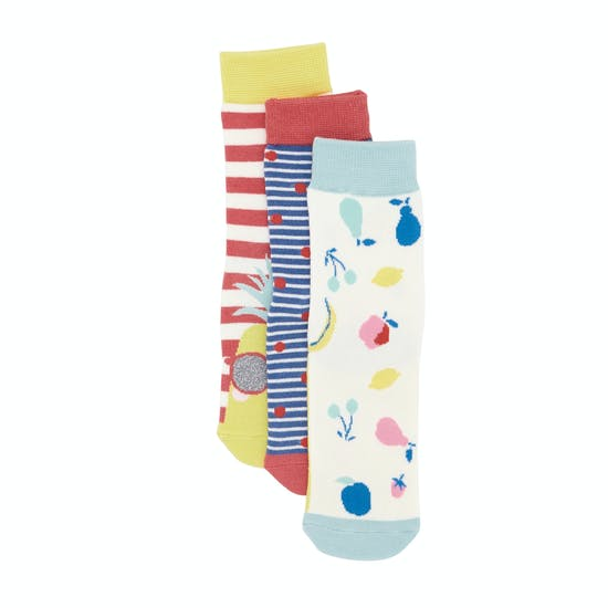 Joules 3 Pack Bamboo Girls Socks