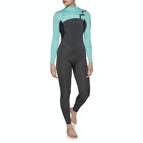 Xcel Comp 3/2mm Chest Zip Womens Wetsuit - Graphite Pistachio