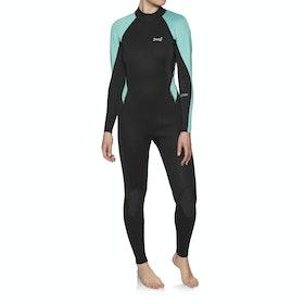 Xcel Axis Flatlock 3/2mm Back Zip Womens Wetsuit - Black Pistachio