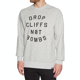 Planks Drop Cliffs Crew Long Sleeve T-Shirt - Sports Grey