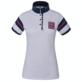Kingsland Equestrian Marbella Tech Pique Ladies Polo Shirt - White