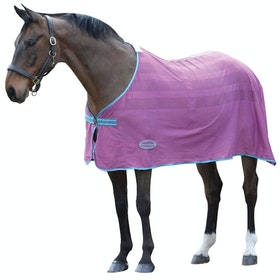 Weatherbeeta Scrim Standard Neck Cooler Rug - Purple Blue Yellow