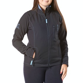 Firefoot Aysgarth Soft Shell Ladies Riding Jacket - Black Sky Blue