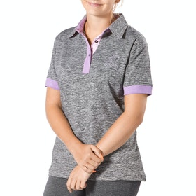 Firefoot Classic Dames Poloshirt - Grey Marl Lilac
