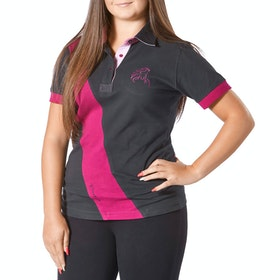 Firefoot Classic Ladies Polo Shirt - Plum Black