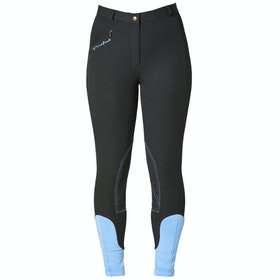 Firefoot Rawdon Ladies Riding Breeches - Black Sky Blue