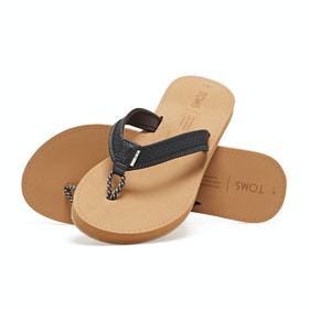 Toms Gabi Leather Womens Sandals - Dark Grey