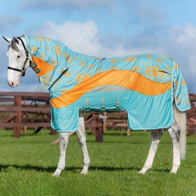 Amigo 3in1 Evolution Fly Rug - Aqua Orange