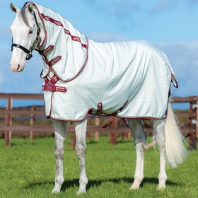 Amigo Aussie All Rounder Disc Front Fly Rug - White Green Cream Burgundy