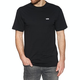 T-Shirt à Manche Courte Vans Left Chest Logo - Black White