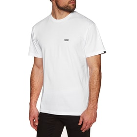 T-Shirt à Manche Courte Vans Left Chest Logo - White Black