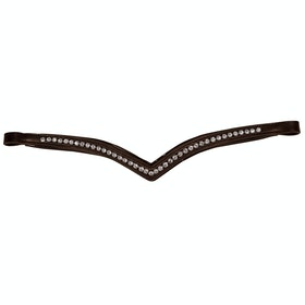 Collegiate Comfitec Patent Replacement Brow Band - Brown