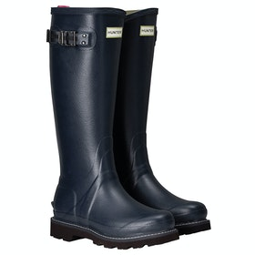 Hunter Balmoral II Poly Lined Ladies Wellington Boots - Navy Peppercorn