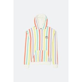 Sex Slater Hoodie - Optic White Pastel Stripe