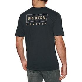 Brixton Wedge Short Sleeve T-Shirt - Washed Black