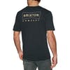 Brixton Wedge Kurzarm-T-Shirt - Washed Black