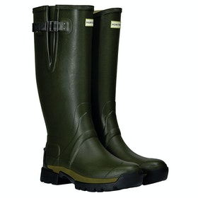 Hunter Balmoral Side Adj 3mm Neoprene Wellies - Dark Olive