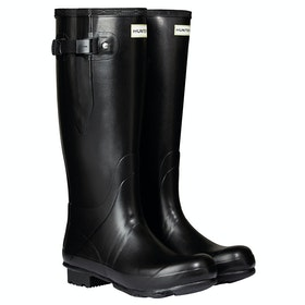 Hunter New Norris Field Adjustable Neoprene Lined Wellies - Black