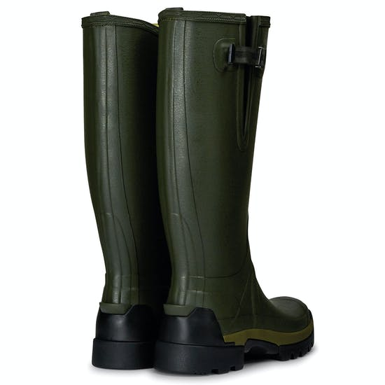 Hunter Balmoral Bamboo Carbon Side Adjustable Wellingtons