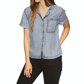 Superdry Riva Womens Short Sleeve Shirt - Light Blue Wash