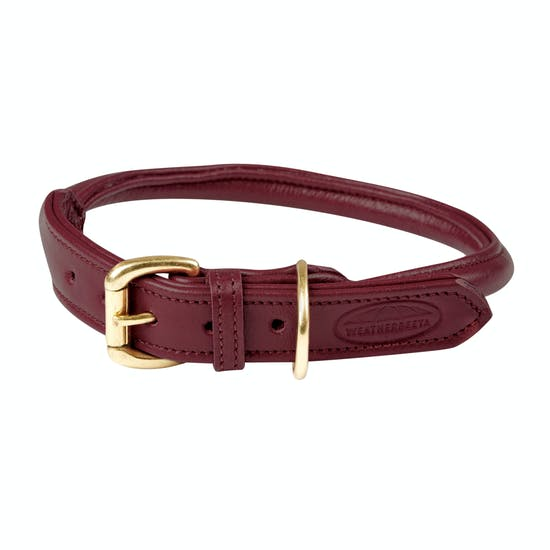 Weatherbeeta Rolled Leather Hundehalsband