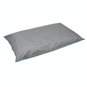 Weatherbeeta Waterproof Pillow Dog Bed - Grey Turquoise