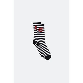 Sex Kidda Socks - Anthracite Optic White