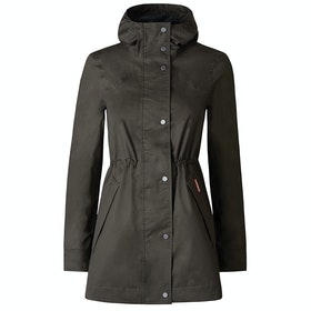 Hunter Original Cotton Smock Ladies Waterproof Jacket - Dark Olive