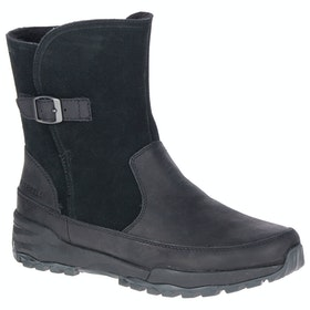 Merrell Icepack Guide Mid Buckle Waterproof Boots - Black