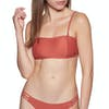 Volcom Simply Solid Bandeau Bikini Top - Burnt Red